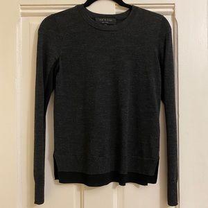 Rag & Bone Gray and Black Sweater